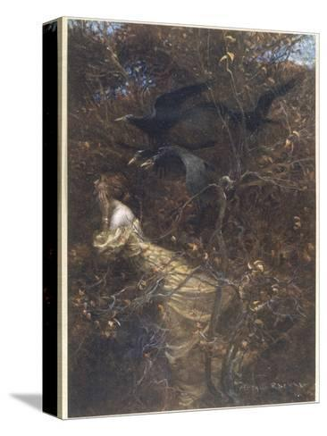 The Haunted Wood C1903-Arthur Rackham-Stretched Canvas Print