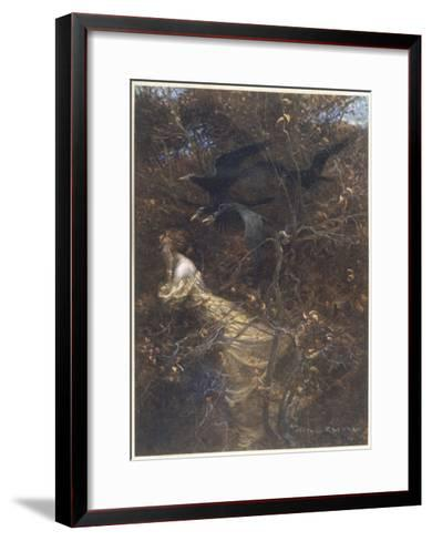 The Haunted Wood C1903-Arthur Rackham-Framed Art Print
