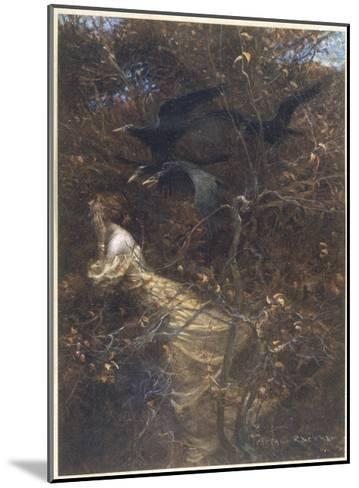 The Haunted Wood C1903-Arthur Rackham-Mounted Giclee Print