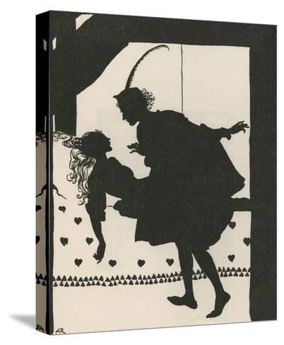 Sleeping Beauty-Arthur Rackham-Stretched Canvas Print