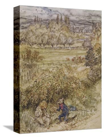 Wind in the Willows-Arthur Rackham-Stretched Canvas Print
