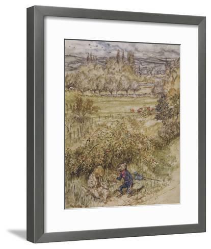 Wind in the Willows-Arthur Rackham-Framed Art Print