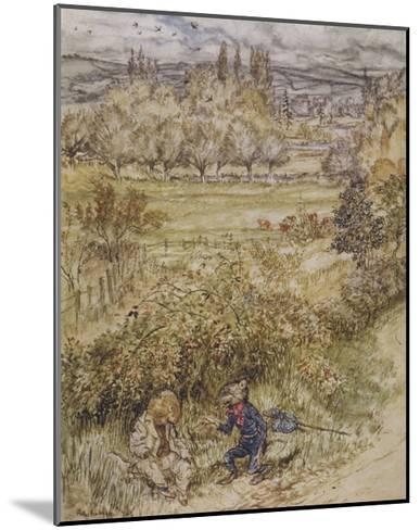 Wind in the Willows-Arthur Rackham-Mounted Giclee Print