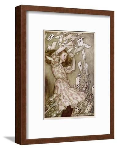 Alice: Cards Fly Up-Arthur Rackham-Framed Art Print