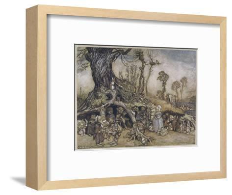 The Little Folk's Market-Arthur Rackham-Framed Art Print