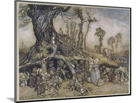 The Little Folk's Market-Arthur Rackham-Mounted Giclee Print