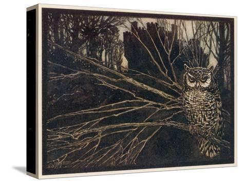 Jorinda as Owl-Arthur Rackham-Stretched Canvas Print