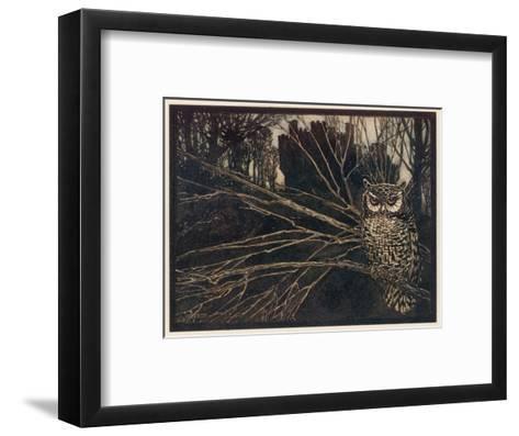Jorinda as Owl-Arthur Rackham-Framed Art Print