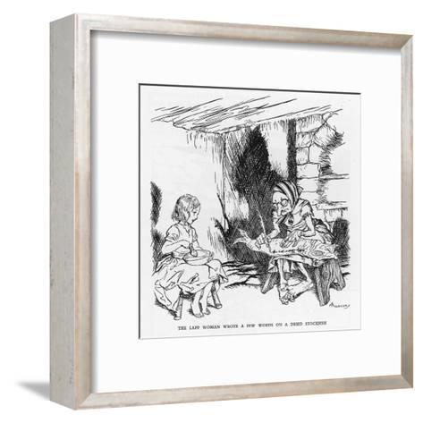 Writing on a Fish-Arthur Rackham-Framed Art Print