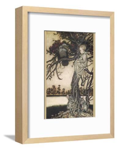 Peter Pan and Solomon Caw-Arthur Rackham-Framed Art Print