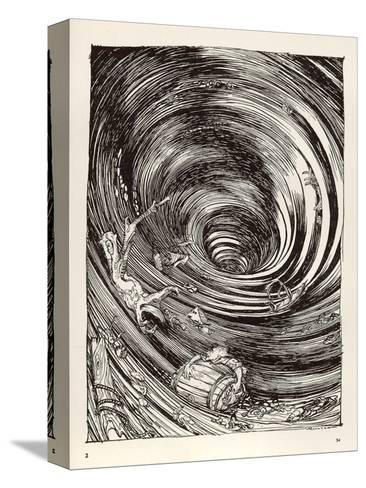 A Descent into Maelstrom-Arthur Rackham-Stretched Canvas Print