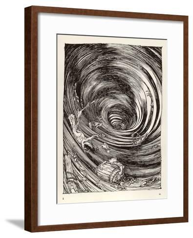 A Descent into Maelstrom-Arthur Rackham-Framed Art Print