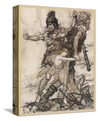 Fasolt and Fafner-Arthur Rackham-Stretched Canvas Print