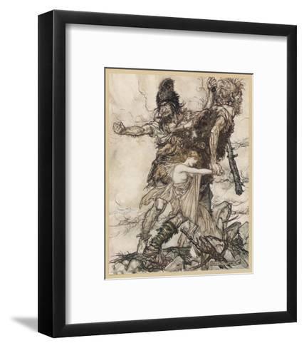 Fasolt and Fafner-Arthur Rackham-Framed Art Print