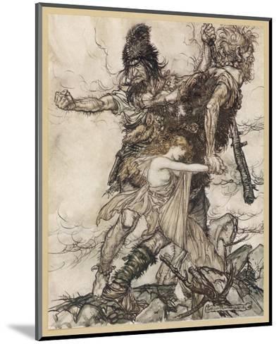 Fasolt and Fafner-Arthur Rackham-Mounted Giclee Print