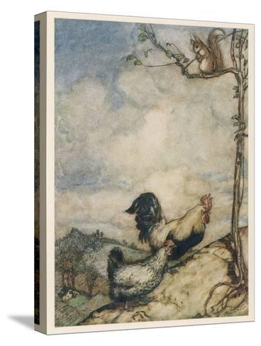 Chantecleer, Partlet-Arthur Rackham-Stretched Canvas Print
