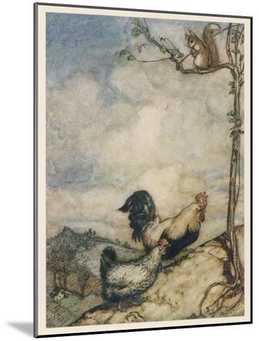 Chantecleer, Partlet-Arthur Rackham-Mounted Giclee Print