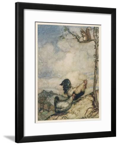 Chantecleer, Partlet-Arthur Rackham-Framed Art Print
