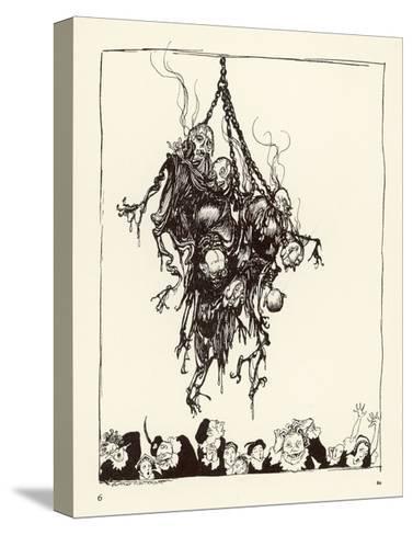 Hop Frog-Arthur Rackham-Stretched Canvas Print