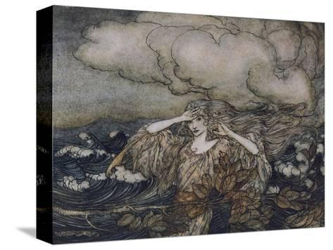 Wind and Waves Rackham-Arthur Rackham-Stretched Canvas Print