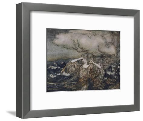 Wind and Waves Rackham-Arthur Rackham-Framed Art Print