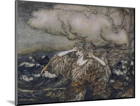 Wind and Waves Rackham-Arthur Rackham-Mounted Giclee Print