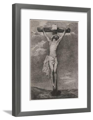 Jesus on Cross Vandyck-Sir Anthony Van Dyck-Framed Art Print