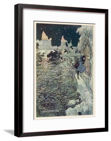 The Seven Ravens 2-Arthur Rackham-Framed Art Print