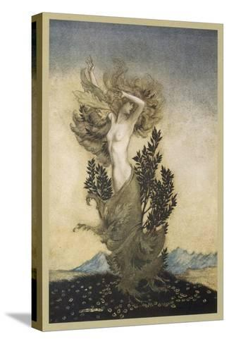 Daphne Becomes a Tree-Arthur Rackham-Stretched Canvas Print