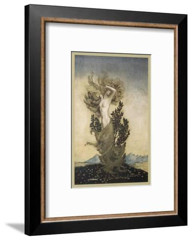 Daphne Becomes a Tree-Arthur Rackham-Framed Art Print