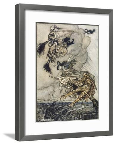 Flight of Witches-Arthur Rackham-Framed Art Print