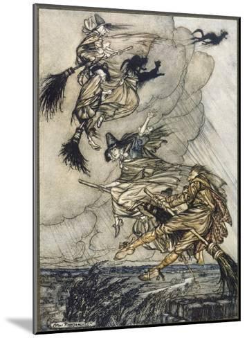 Flight of Witches-Arthur Rackham-Mounted Giclee Print