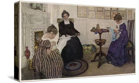 Social, US Sewing Room-Anna Whelan Betts-Stretched Canvas Print