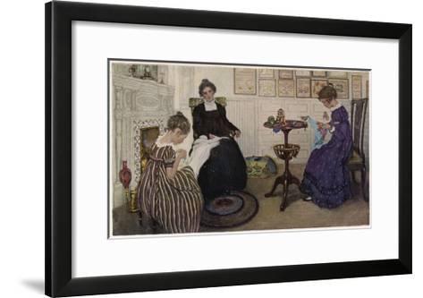 Social, US Sewing Room-Anna Whelan Betts-Framed Art Print