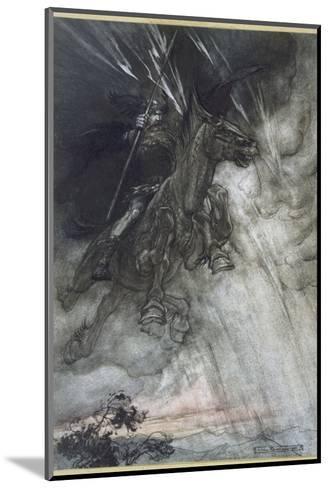 Odin, Wotan Rides, Rackham-Arthur Rackham-Mounted Giclee Print