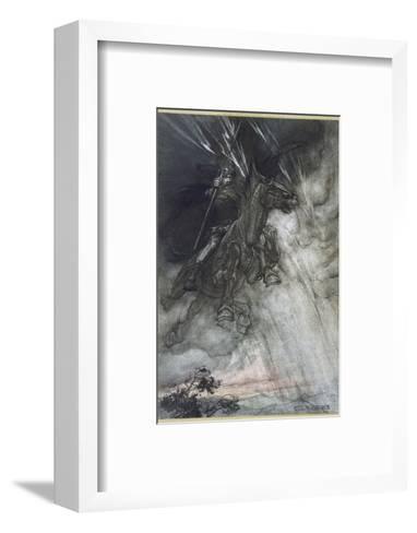 Odin, Wotan Rides, Rackham-Arthur Rackham-Framed Art Print