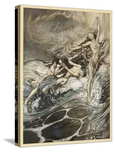 The Ring Recovered-Arthur Rackham-Stretched Canvas Print