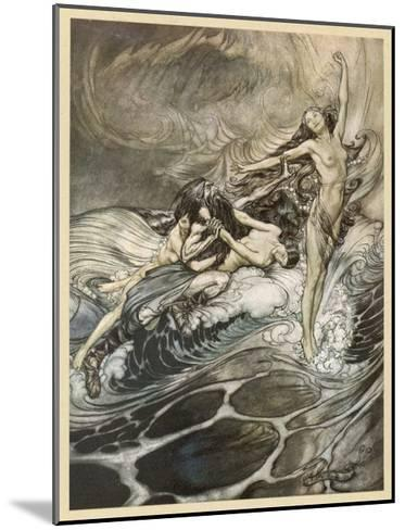 The Ring Recovered-Arthur Rackham-Mounted Giclee Print