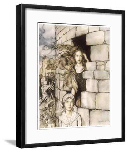 Maid Maleen, Rackham-Arthur Rackham-Framed Art Print