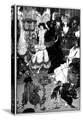 The Toilet of Helen-Aubrey Beardsley-Stretched Canvas Print