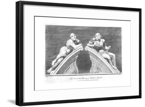 Melancholy and Raving Madness, Bedlam Hospital--Framed Art Print
