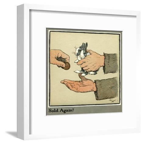 Humpty and Dumpty the Rabbits are Sold-Cecil Aldin-Framed Art Print