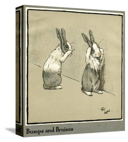 Humpty and Dumpty the Rabbits Lose their Way-Cecil Aldin-Stretched Canvas Print