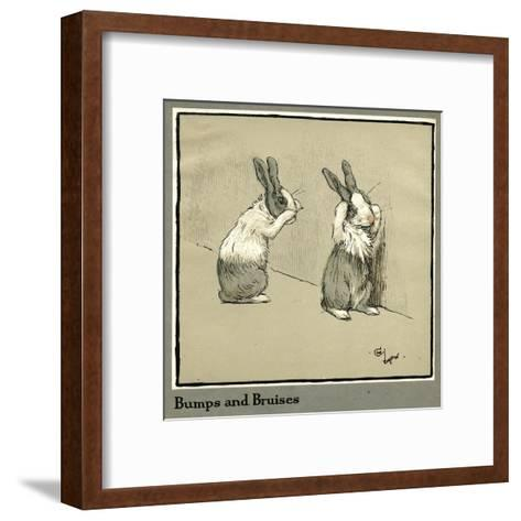 Humpty and Dumpty the Rabbits Lose their Way-Cecil Aldin-Framed Art Print