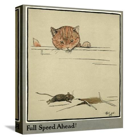Rufus the Cat Watches a Mouse-Cecil Aldin-Stretched Canvas Print