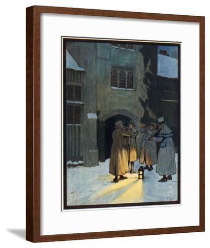Carol Singers-Cecil Aldin-Framed Art Print
