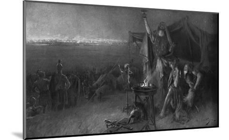 Alexander the Great on the Eve of Gaugamela-C. Castaigne-Mounted Giclee Print