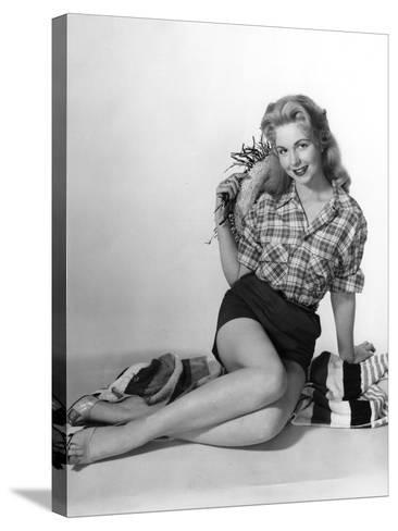 Pin-Up in Shorts 1950S-Charles Woof-Stretched Canvas Print