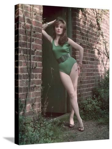 Pin-Up in Leotard-Charles Woof-Stretched Canvas Print