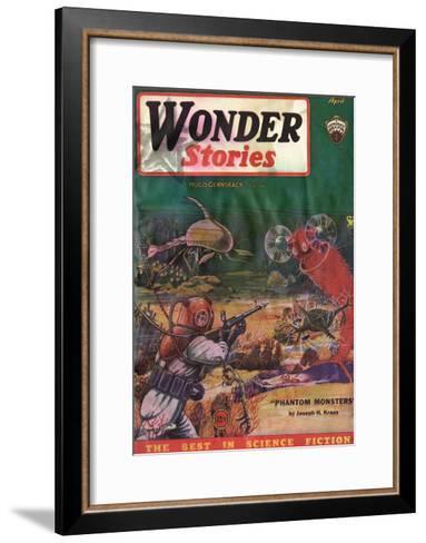 Underwater Monsters-Frank R Paul-Framed Art Print